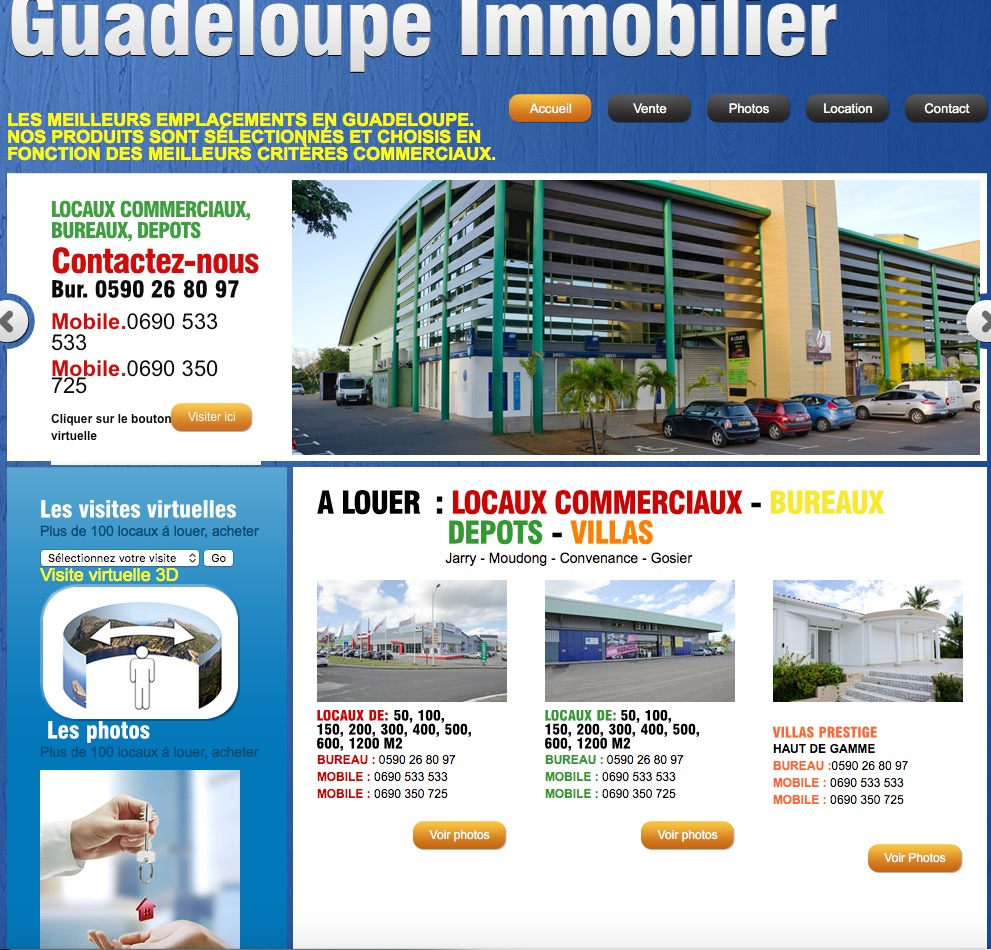 site catalogue web2web site internet guadeloupe site internet martinique site internet guyane. Black Bedroom Furniture Sets. Home Design Ideas